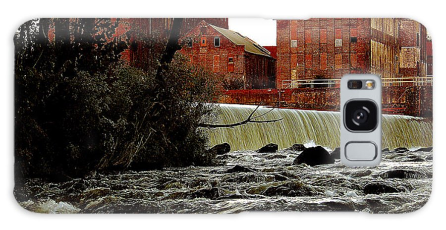 Water Galaxy Case featuring the photograph Old River Dam In Columbus Georgia by Ruben Flanagan