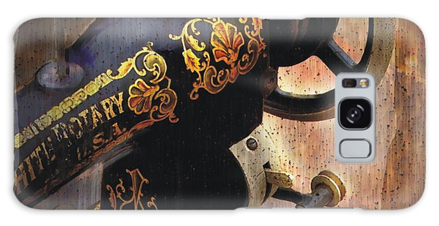 Sewing Machine Galaxy S8 Case featuring the painting Old Sewing Machine by Bob Salo