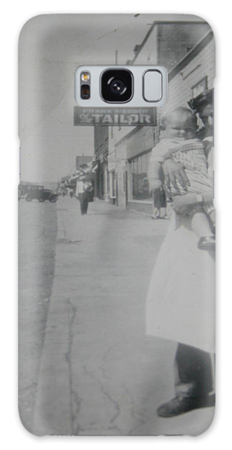 Old Street 1950 Road Store Black And White Photographs Long Ago Classic Galaxy S8 Case featuring the photograph Old Street by Andrea Lawrence