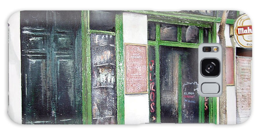 Bodegas Galaxy S8 Case featuring the painting Old Tavern-madrid by Tomas Castano