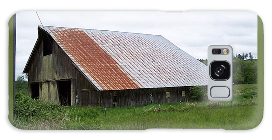 Barn Galaxy Case featuring the photograph Old Tin Roof Barn Washington State by Laurie Kidd