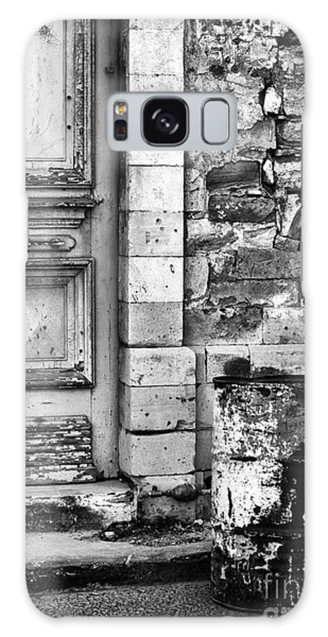 Black And White Galaxy S8 Case featuring the photograph Old Town Limassol Black And White by John Rizzuto