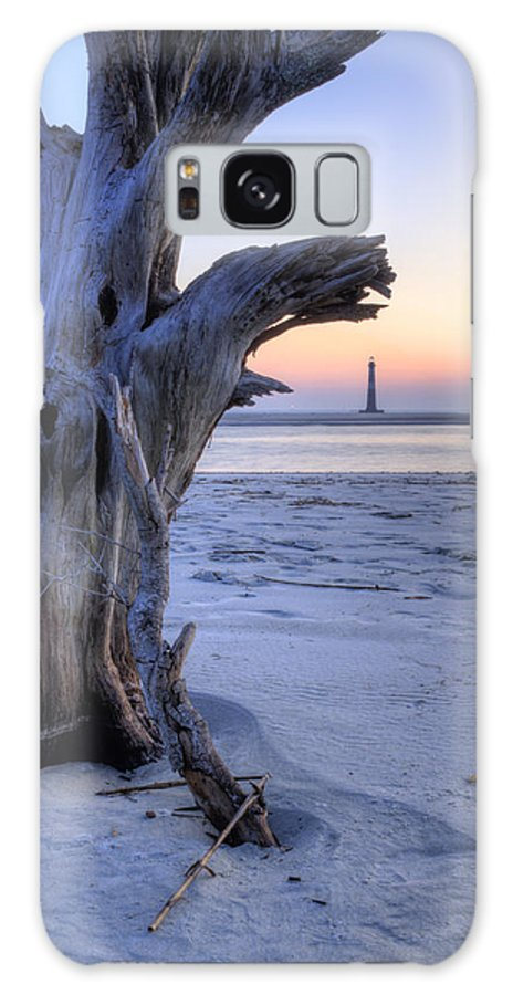 Morris Island Light House Morning Folly Beach Lowcountry South Carolina Landscape Water Beach Hdr Galaxy S8 Case featuring the photograph Old Tree And Morris Island Lighthouse Sunrise by Dustin K Ryan