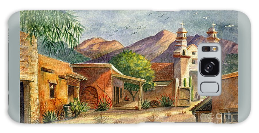 Old Tucson Galaxy S8 Case featuring the painting Old Tucson by Marilyn Smith