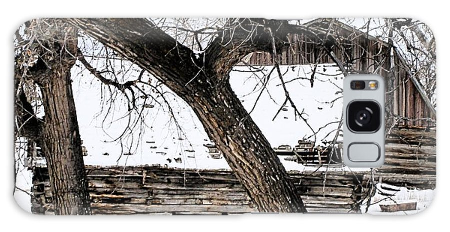 Old Barn Galaxy S8 Case featuring the photograph Old Ulm Barn by Susan Kinney