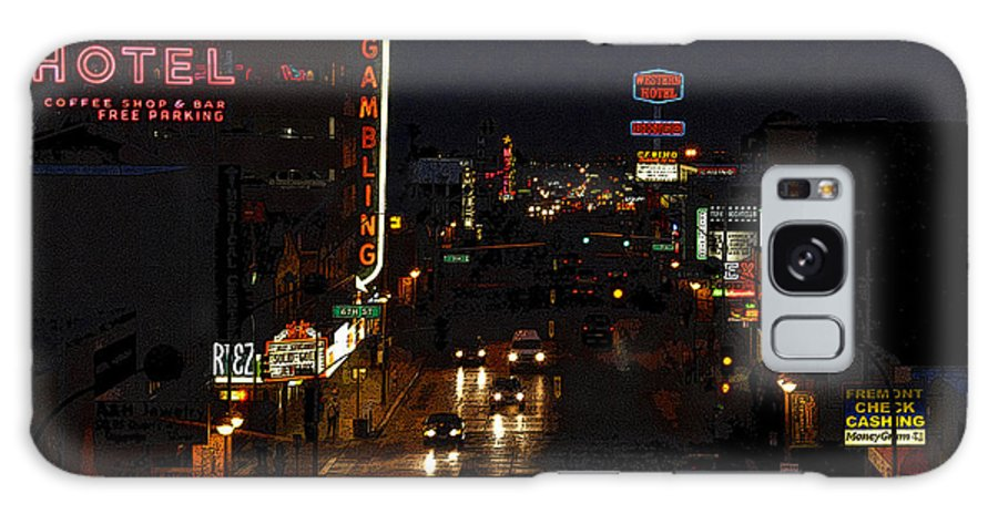 Art Galaxy S8 Case featuring the painting Old Vegas by David Lee Thompson