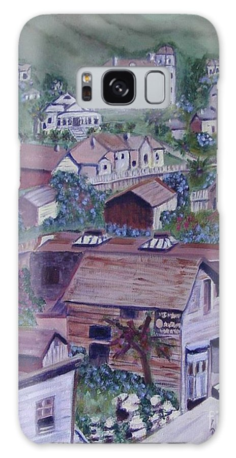 Ventura Galaxy S8 Case featuring the painting Old Ventura by Laurie Morgan
