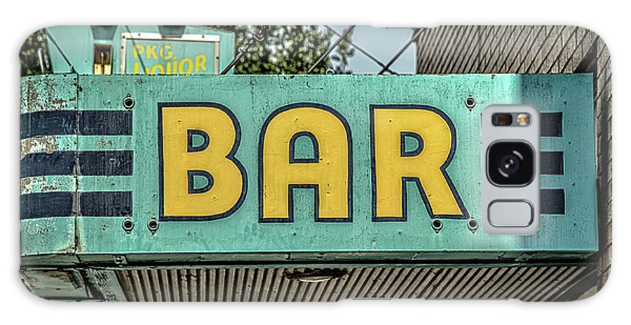 Neon Sign Galaxy S8 Case featuring the photograph Old Vintage Bar Neon Sign Livingston Montana by Edward Fielding