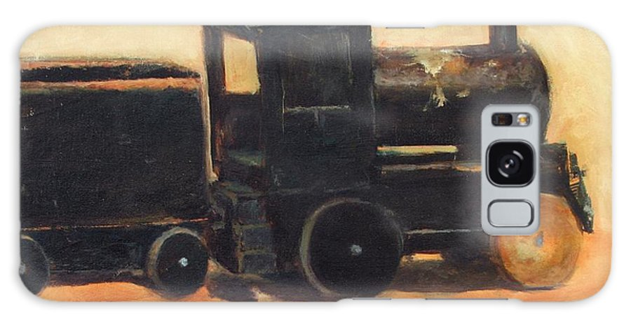 Trains Galaxy S8 Case featuring the painting Old Wood Toy Train by Chris Neil Smith