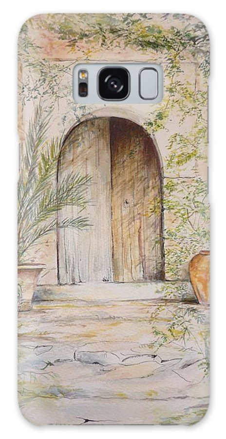 Door Galaxy S8 Case featuring the painting Old Wooden Door by Lizzy Forrester