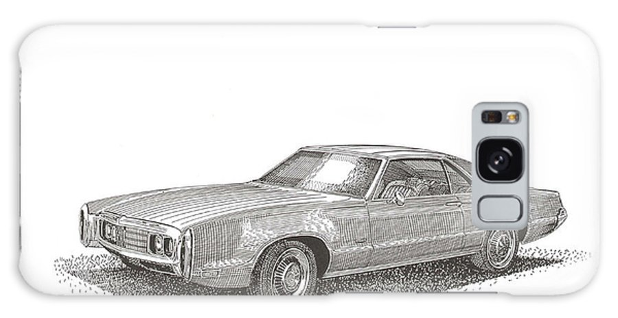 1970 Oldsmobile Toronado Front Wheel Drive Galaxy S8 Case featuring the drawing Oldsmobile Tornado S C by Jack Pumphrey