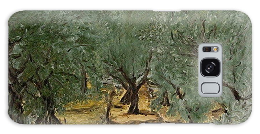 Landscape Galaxy Case featuring the painting Olive by Pablo de Choros