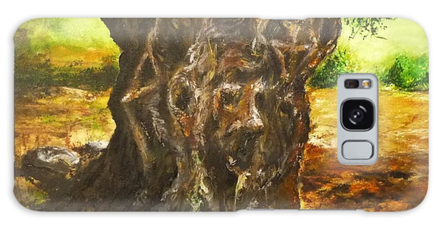 Tree Galaxy S8 Case featuring the painting Olive Tree Rooted 1 by Lizzy Forrester