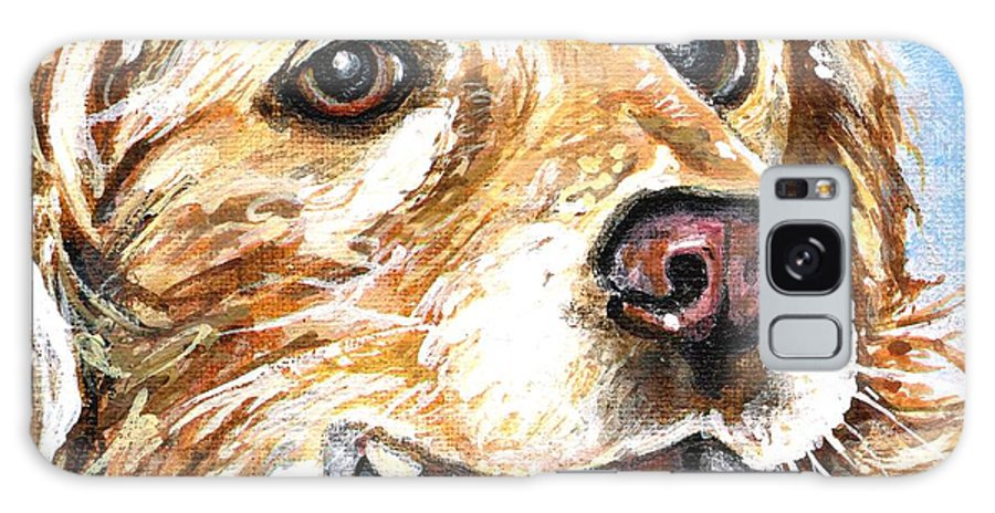 Charity Galaxy Case featuring the painting Oliver From Muttville by Mary-Lee Sanders