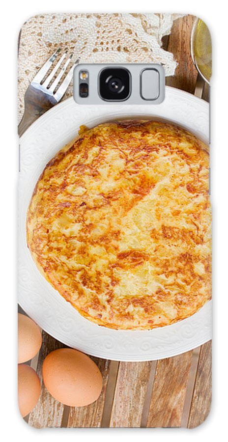 Omelette Galaxy S8 Case featuring the photograph Omelette Tortilla by Anastasy Yarmolovich