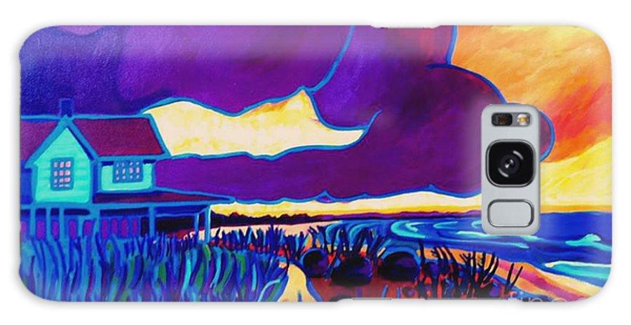 Beach Galaxy Case featuring the painting Ominous by Debra Bretton Robinson
