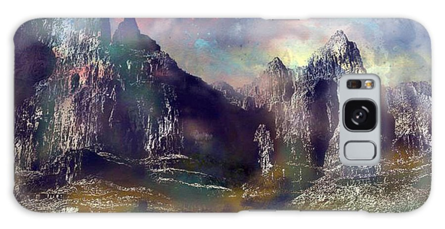 Mountains Galaxy Case featuring the digital art Ominous Sky by Arline Wagner