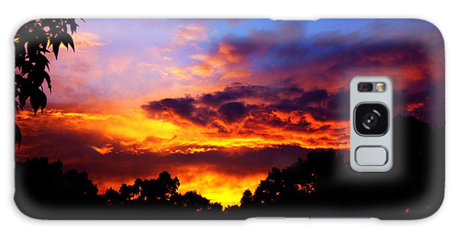 Clay Galaxy Case featuring the photograph Ominous Sunset by Clayton Bruster