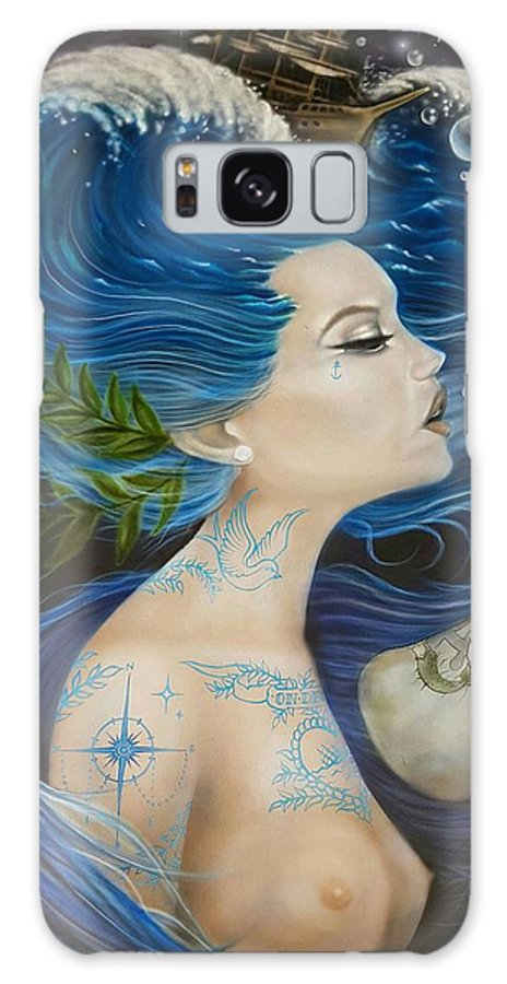 Ocean Galaxy S8 Case featuring the painting On Deck Moby Dick by Kyla Vermeulen
