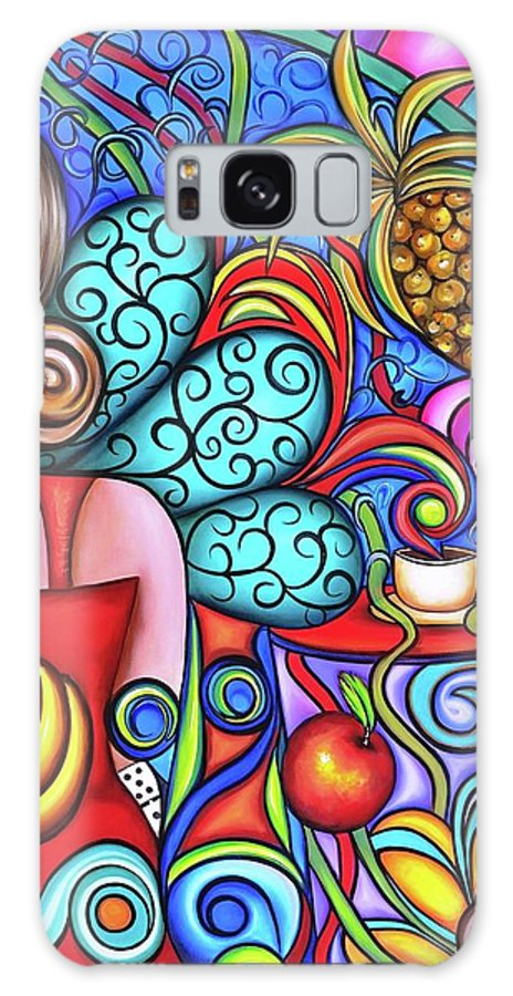 Cuba Galaxy Case featuring the painting On My Mind by Annie Maxwell