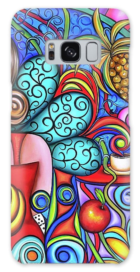 Cuba Galaxy S8 Case featuring the painting On My Mind by Annie Maxwell