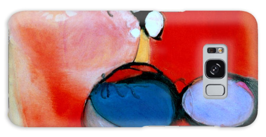 Abstract Galaxy Case featuring the painting On The Ball by Marlene Burns