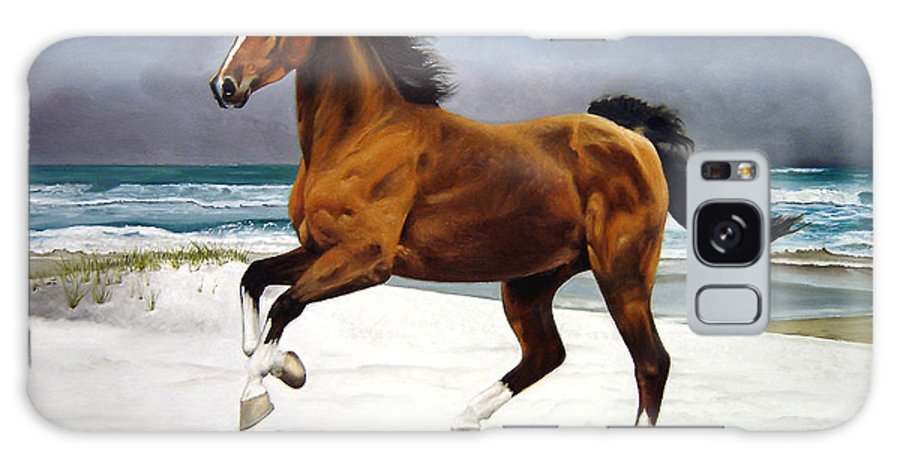 Horse Galaxy S8 Case featuring the painting On The Beach by Marc Stewart