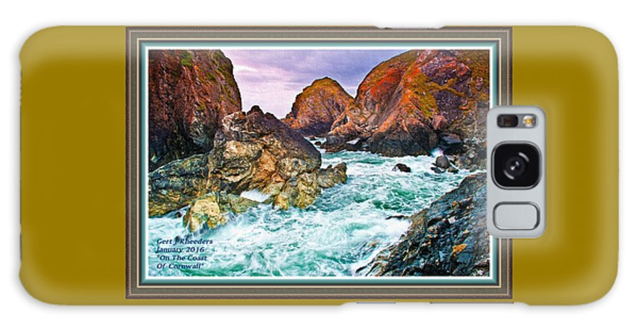 Rural Galaxy S8 Case featuring the painting On The Coast Of Cornwall L A With Decorative Ornate Printed Frame. by Gert J Rheeders