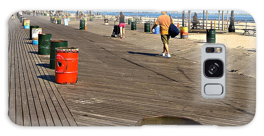 Boardwalk Galaxy S8 Case featuring the photograph On The Coney Island Boardwalk by Madeline Ellis