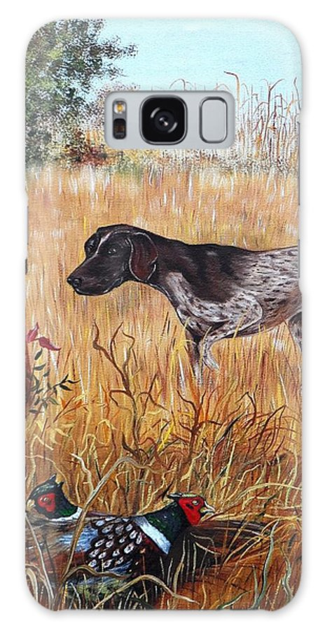 Pointer Galaxy S8 Case featuring the painting On The Hunt by Phyllis Gates