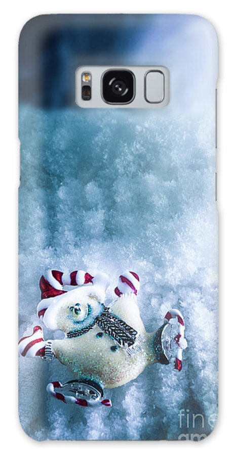 Skating Galaxy S8 Case featuring the photograph On The Ice by Jorgo Photography - Wall Art Gallery