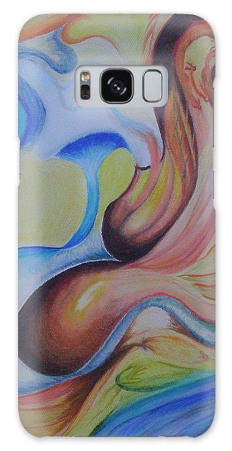 Abstract Galaxy S8 Case featuring the painting On The Island by Suzanne Udell Levinger