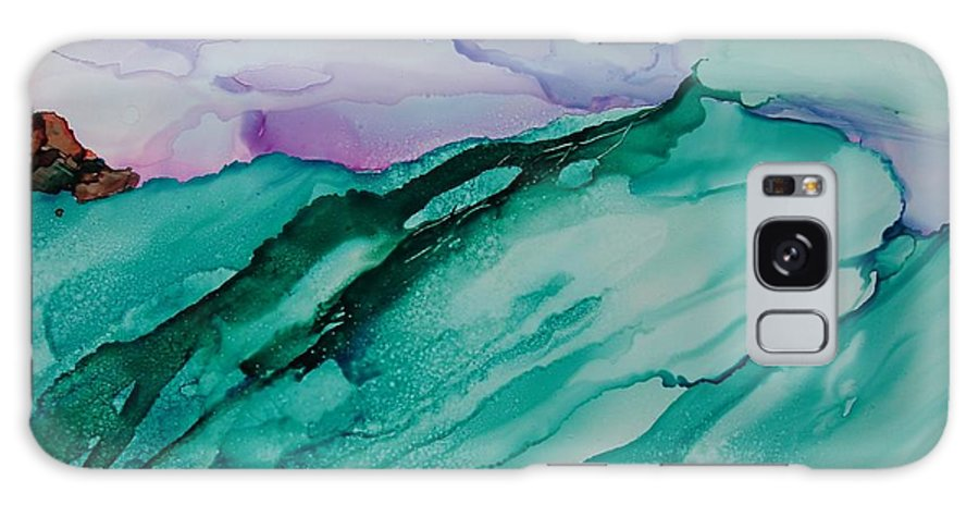 Ocean Galaxy S8 Case featuring the painting On The Rocks by Susan Kubes