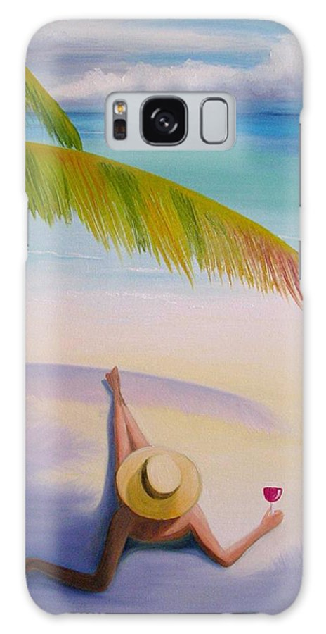 Beaches Galaxy Case featuring the painting On Vacation by Maria Mills