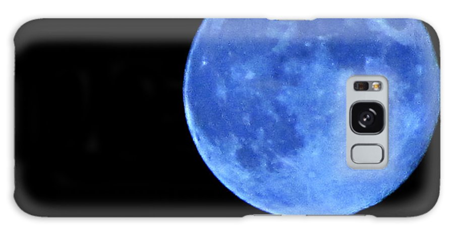 Blue Moon Galaxy S8 Case featuring the photograph Once In A Blue Moon by Serena Ballard