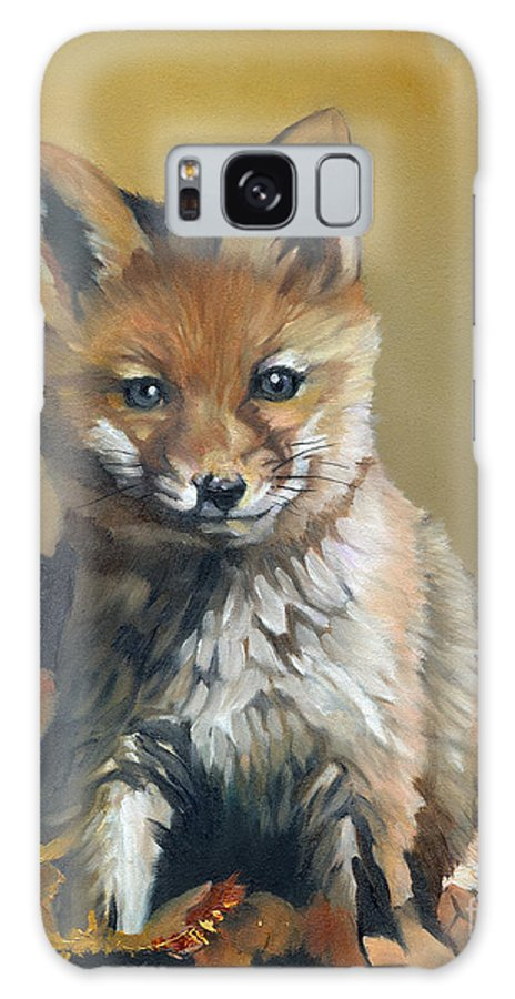 Fox Galaxy S8 Case featuring the painting Once Upon A Time by J W Baker