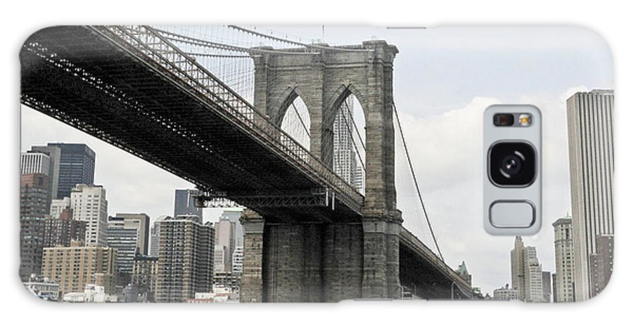 Brooklyn Galaxy S8 Case featuring the photograph One Day At Brooklyn Bridge by Maria isabel Villamonte