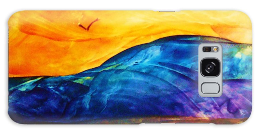 Landscape Galaxy Case featuring the painting One Fine Day by Melinda Etzold