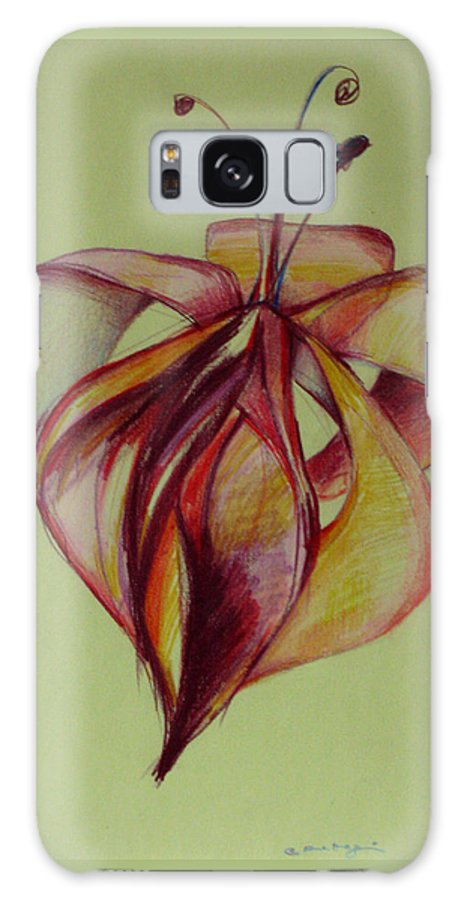 Flower Galaxy Case featuring the painting One Flower by Cristina Rettegi