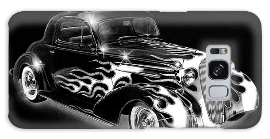 One Hot 1936 Chevrolet Coupe Galaxy S8 Case featuring the drawing One Hot 1936 Chevrolet Coupe by Peter Piatt