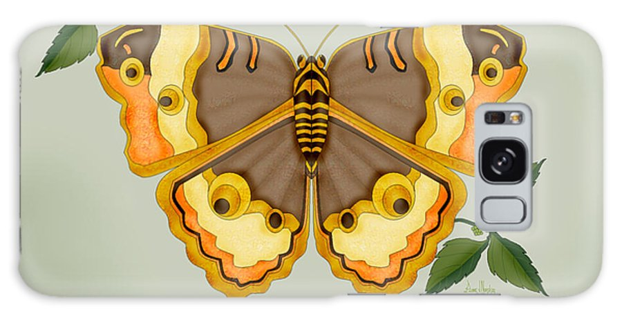 Butterfly Galaxy Case featuring the painting One More Jewel For The Garden by Anne Norskog