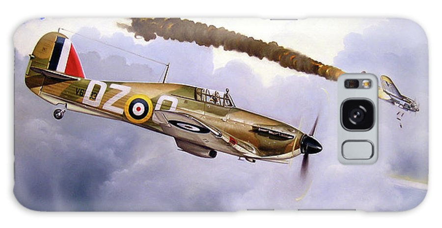 Aviation Art Galaxy Case featuring the painting One Of The Few by Marc Stewart