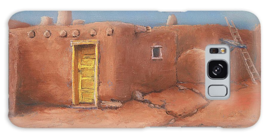 Taos Galaxy Case featuring the painting One Yellow Door by Jerry McElroy