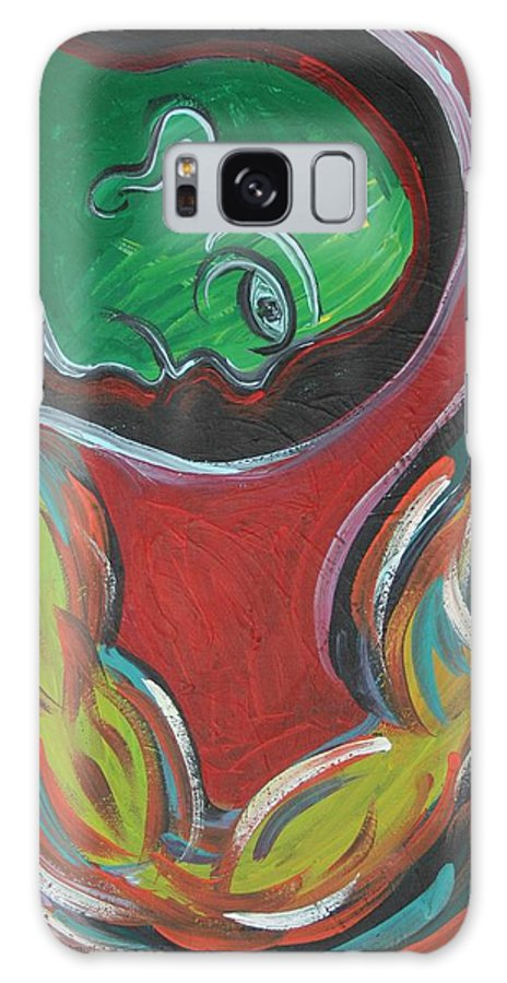 Dreams Galaxy S8 Case featuring the painting Only In Dreams by Jessica Kauffman
