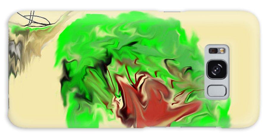 Abstract Galaxy S8 Case featuring the digital art Oooooooh S--- by John Krakora