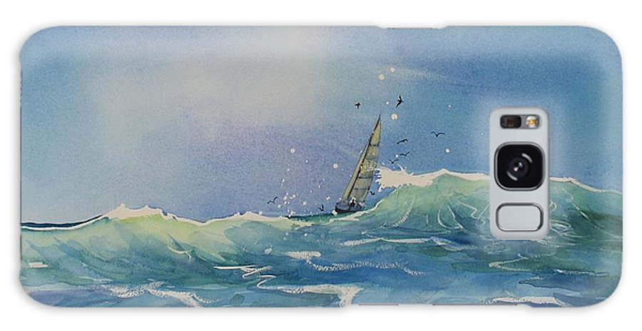 Watercolor Painting Galaxy S8 Case featuring the painting Open Waters by Laura Lee Zanghetti
