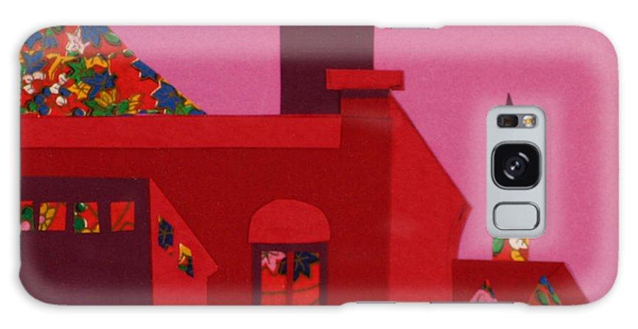 Opera House Galaxy Case featuring the mixed media Opera House by Debra Bretton Robinson