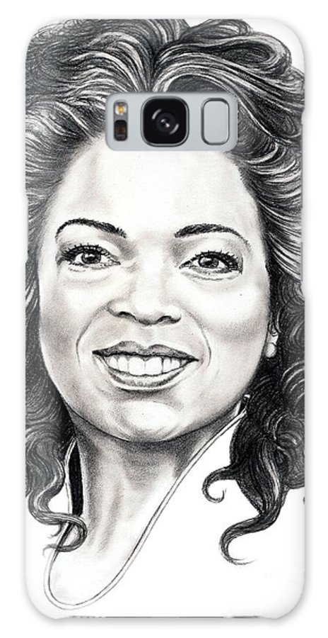 Oprah Galaxy S8 Case featuring the drawing Oprah Winfrey by Murphy Elliott