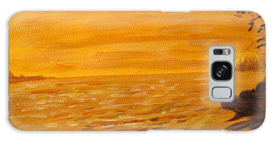 Ocean Galaxy S8 Case featuring the painting Orange Beach by Ian MacDonald
