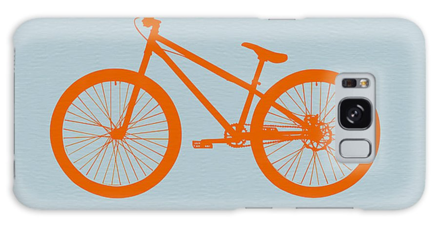 Bicycle Galaxy Case featuring the digital art Orange Bicycle by Naxart Studio